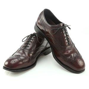 Florsheim Burgundy Leather Brogue Wingtip Oxfords